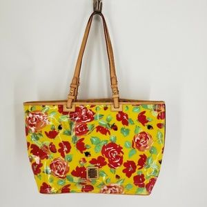 Dooney And Bourke Large Summer Floral Shopper Tote